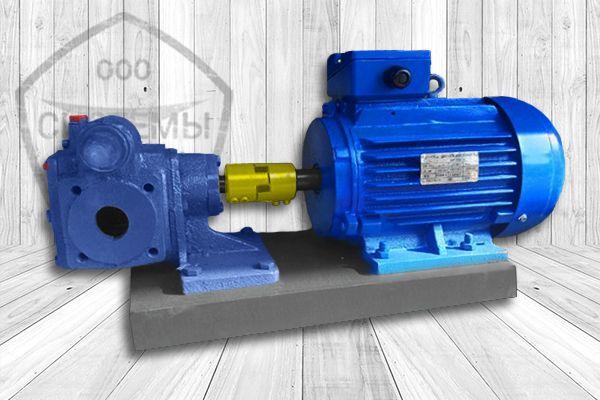 Шестеренный насос НМШ 5-25 агрегат с электродвигателем