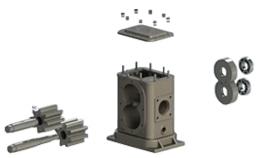 редуктор, валы и шестерни битумной установки дс-134